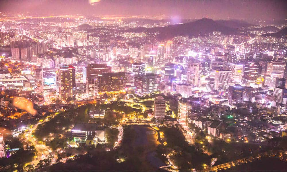 Portada Corea del Sur, Ciudad Seoul skyline from N Seoul Tower — South Korea Bart Claeys
