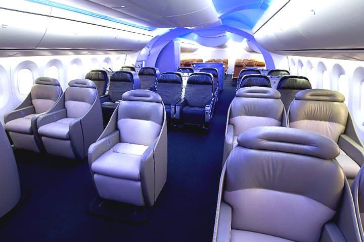 Interior del Boeing 787 Alan W Abramowitz para Boeing Company