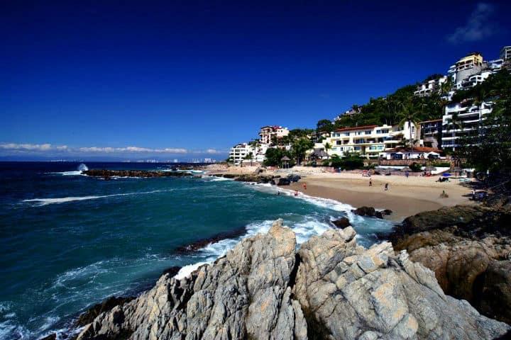 Playa Conchas Chinas Foto La Bahía Más Bella