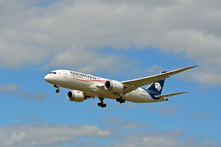 Avión Dreamliner de Aeroméxico. Foto: Rene Bartels