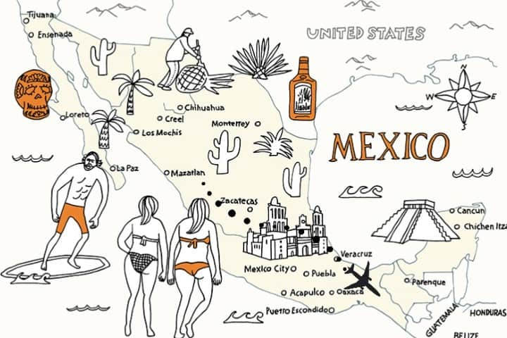 Mapa México. Foto: Nobuo Suzuki Ruta Guadalajara Tuxtla Gutiérrez con Volaris