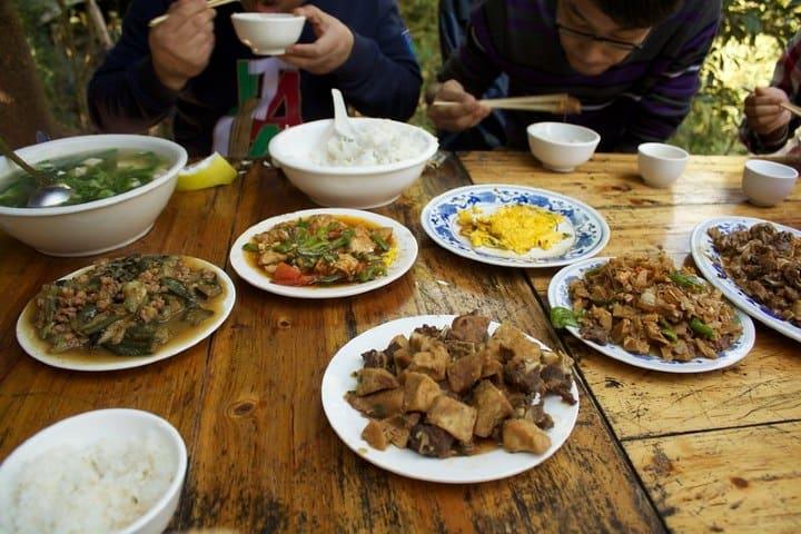 Comida típica en China. Foto: LieneLiepina