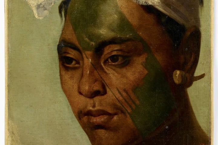 Retrato de un tatuaje marquisien del siglo XIX Foto Musée du quai Branly