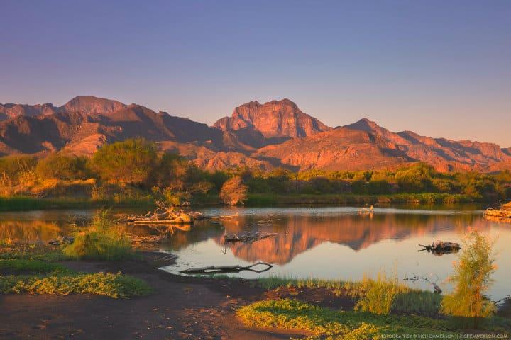 Amanecer en la Sierra de la Giganta Foto Loreto Real Estate