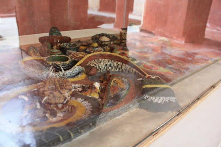 Arte plumario en el Museo Nacional del Virreinato Foto David Cabrera