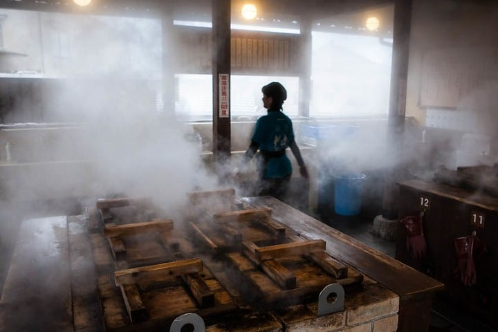 Beppu es conocido por sus mas de 3000 spas. Foto Morito Kawahara