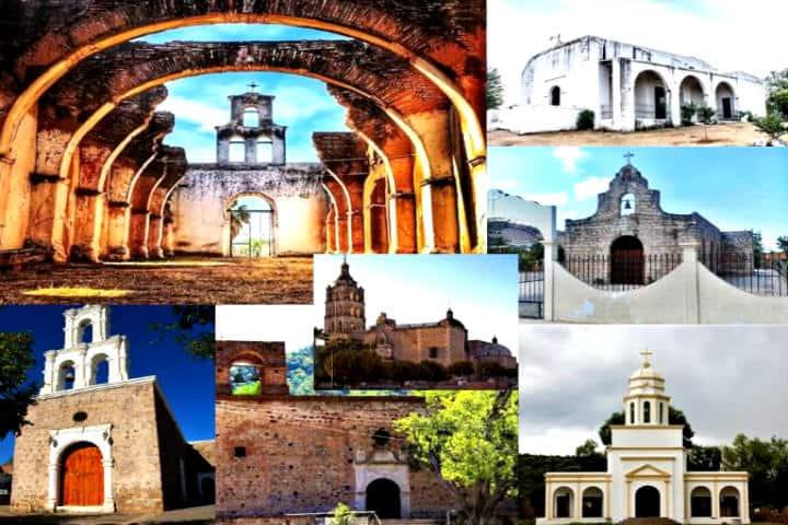 Collage de los 7 templos de Álamos Orfa Sepúlveda