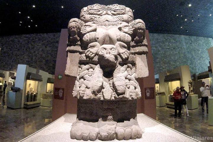 Coatlicue, en el Museo Nacional de Antropología Foto Viajeres