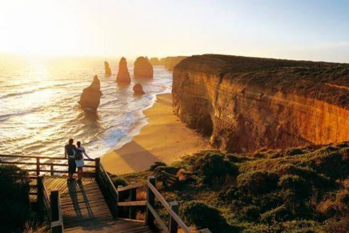 Escaleras Doce apostoles. Australia. Foto. Viviendo intensamente