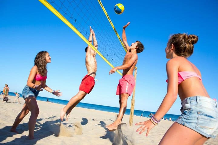 Volleyball de playa Foto Les Méditerranées