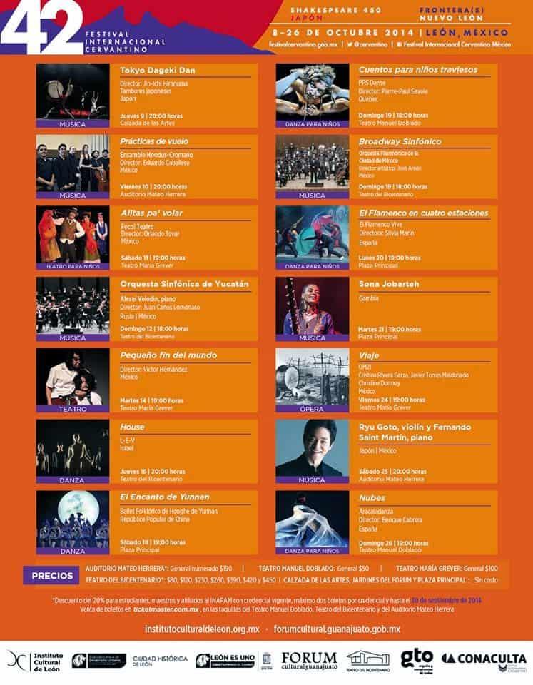 Actividades Festival Internacional Cervantino 2014. Foto Site 3