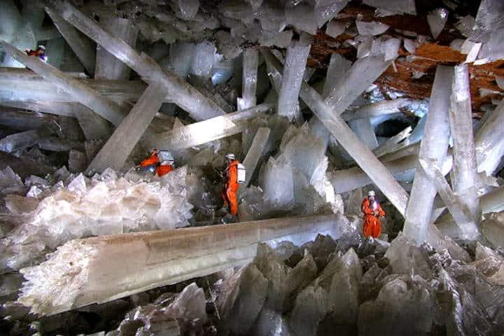 Cueva de las velas, Minas de Naica. Foto El Heraldo de San Luis Potosí.