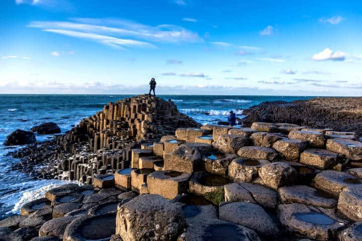 Prismas basálticos en Irlanda. Foto Esculturas y Monumentos.