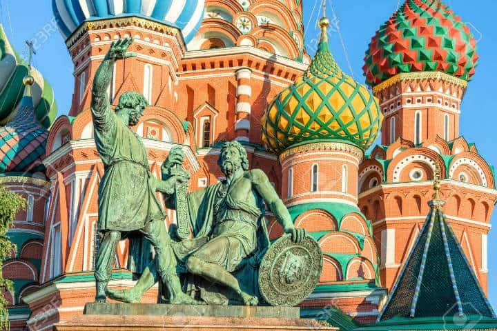 Monumento a Minin y Pozharsky el La Plaza Roja