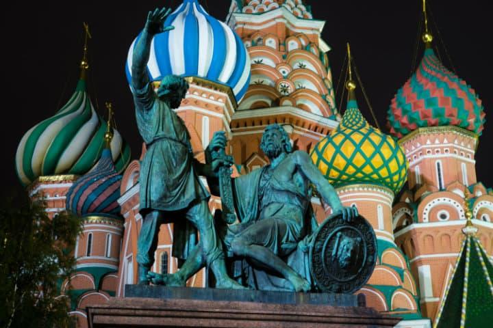 Monumento a Minin y Pozharsky. Foto Archivo.