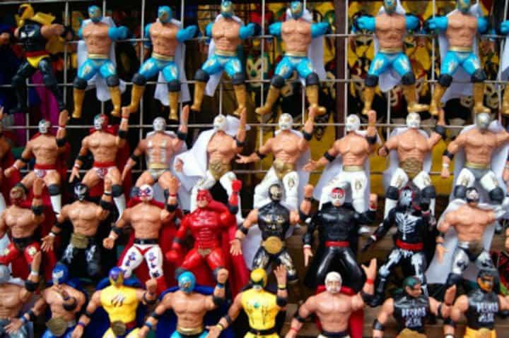 Muñecos de Lucha Libre Mexicana. CDMX. Foto Archivo 5