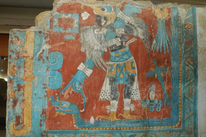 Murales de Cacaxtla en Tlaxcala. Foto: alef.mx