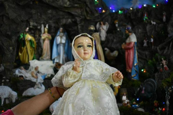Niño Dios en nacimiento.Origen de los nacimientos y pastorelas.Foto.El Sol de Tampico.2