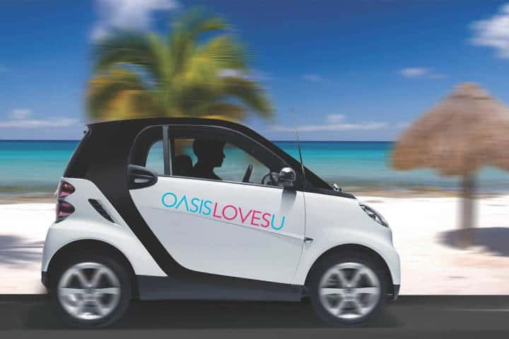 Carro Smart. Foto Oasis Hotels & Resorts.