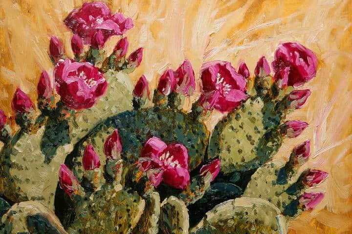 Pintura al Óleo PRETTY IN PINK deRobert E. Wood. Foto Galería Índigo 9