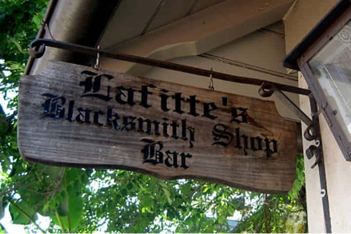 Lafitte's Blacksmith Shop Bar. Foto Punch.