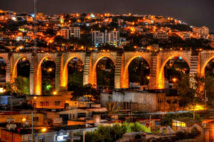 Querétaro de noche.Foto.Grupo En Concreto.5