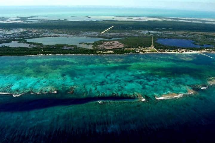 Arrecifes, Mahahual en Quintana Roo. Foto Quinta Fuerza.