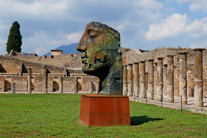 Rostro de escultura en Pompeya.Foto.BS1920.1