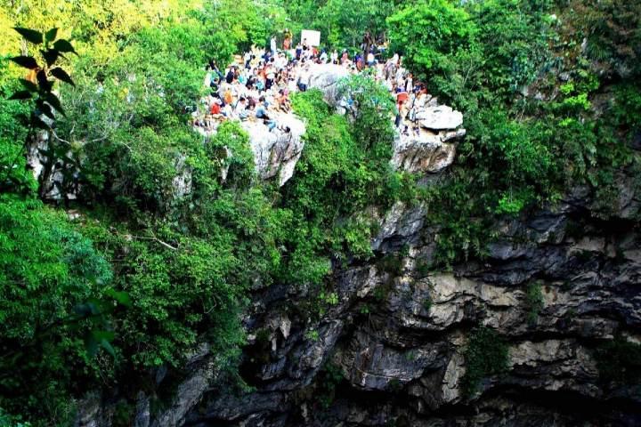 Sótano de las golondrinas en la Huasteca Foto turismossanluispotosi com