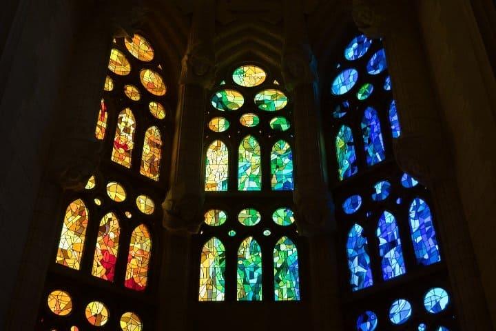 Vidriera de La Sagrada Familia Foto manolofranco