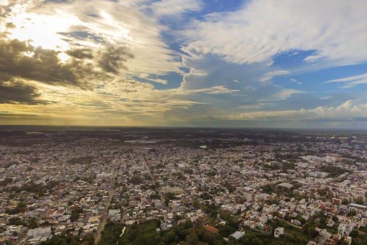 Villahermosa. Foto: Air Bravo Drones Tabasco