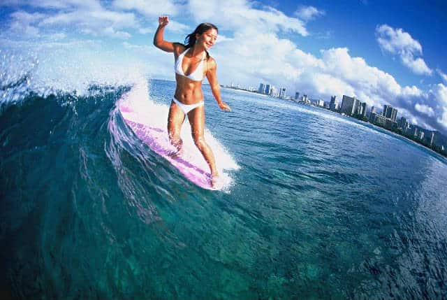 Tarde para surfear. Foto Archivo.