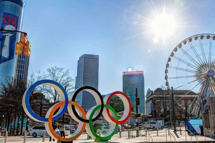 Centennial Olympic Park. Foto Atlanta Convention and Visitors Bureau.