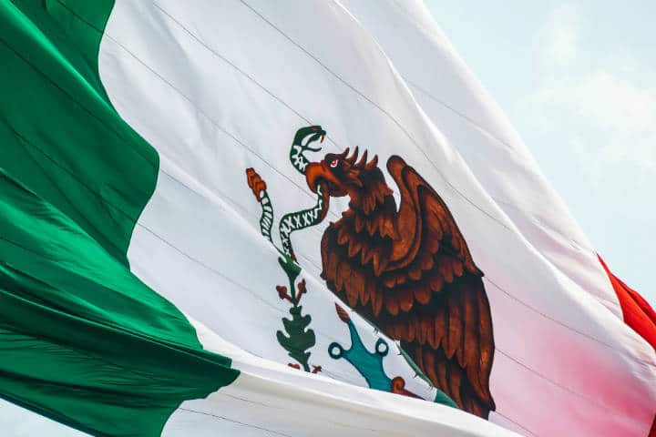 Bandera Mexicana. Foto Jorge Aguilar 2
