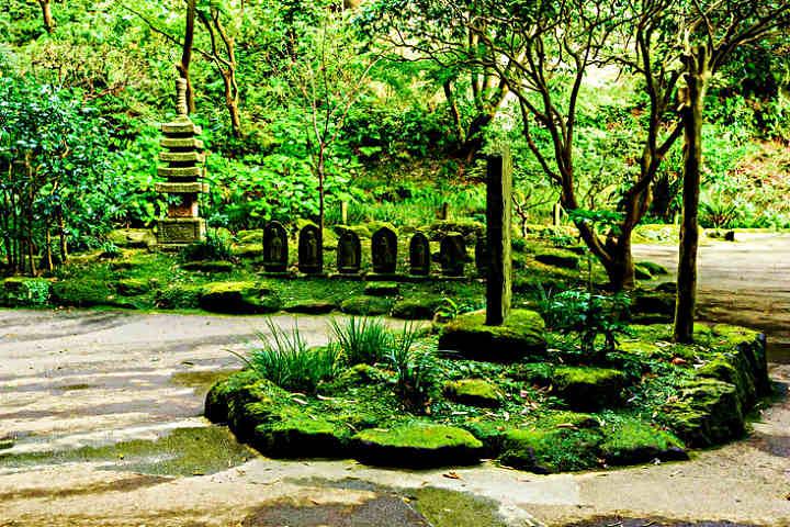Cada rincón del Bosque de Bambú en Japón esta lleno de historia, como este cementerio Foto Toshihiro Gamo