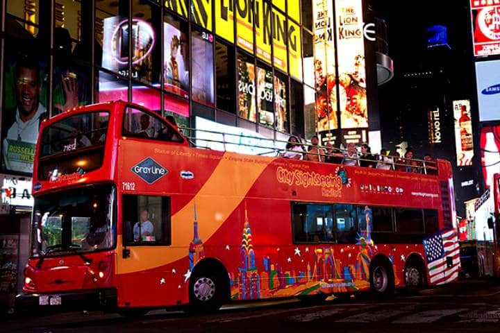 New York Sightseeing Bus. Foto City Sightseeing New York.