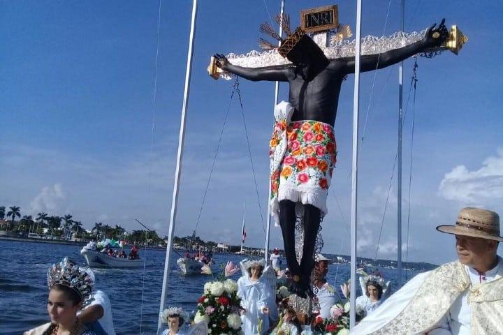 Cristo negro. Foto: Cristo negro Feria del Cristo Negro en Campeche