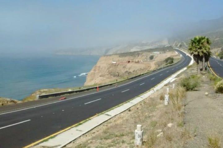 Ensénada. Carretera Escénica. Foto. ClimaMex por Vicente Vargas