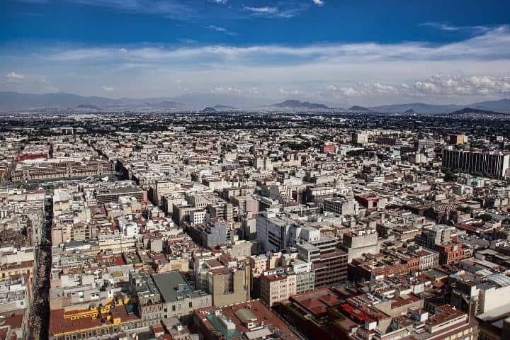 Vista aérea de la CDMX. Foto MarandaP