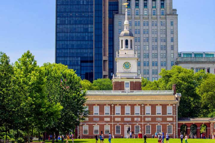 Parque Histórico Nacional de la Independencia. Foto Guía de Filadelfia.