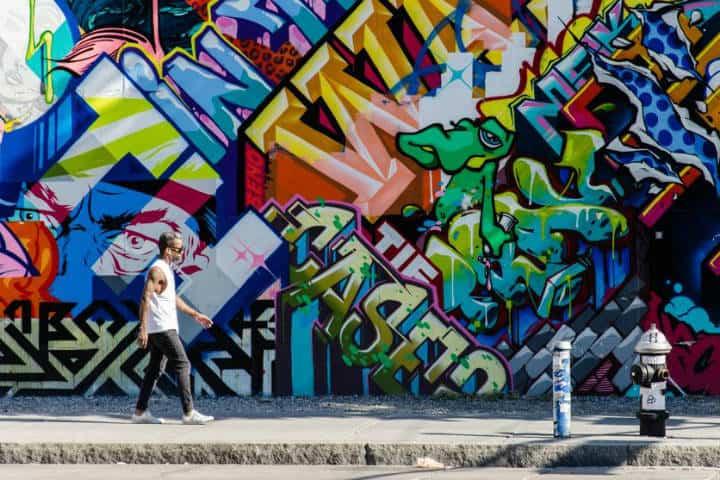 Graffiti Filadelfia. Foto La Vanguardia.