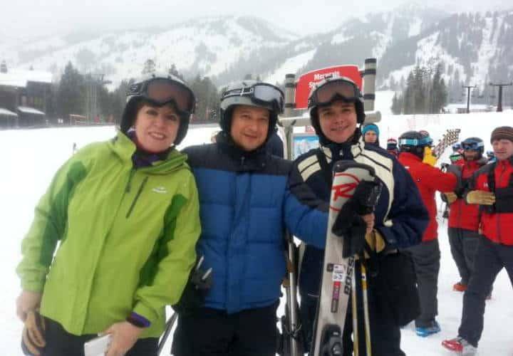 Lidia Ramos, Julio García Castillo y Oscar Valdemar en Jackson Hole