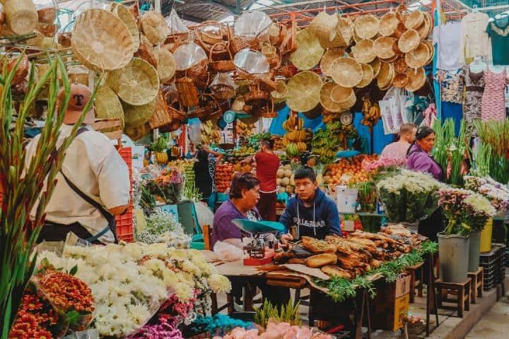Mercado México. Foto: Roberto Carlos Roman Comida típica de Oaxaca