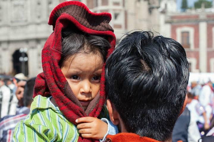 Peregrinos en la Basílica de Guadalupe Foto Geraint Rowland