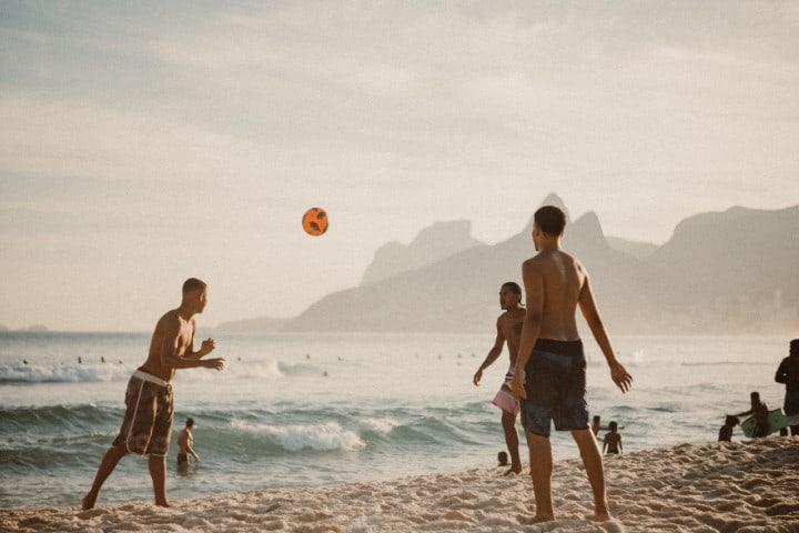Vóleibol en Playa Algodones. Foto: Marcos Paulo Prado