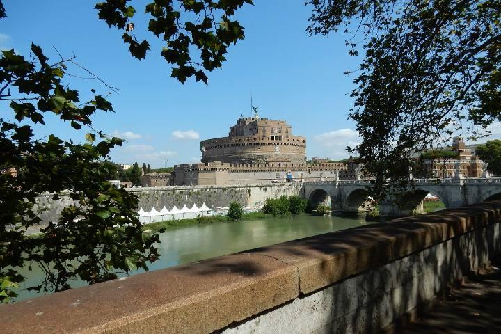 Castillo Sant Angelo en Roma. Foto Ptra.