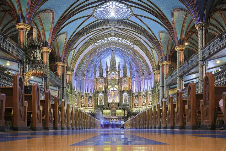 Iglesia Notre Dame en Montreal. Foto Diocesan.