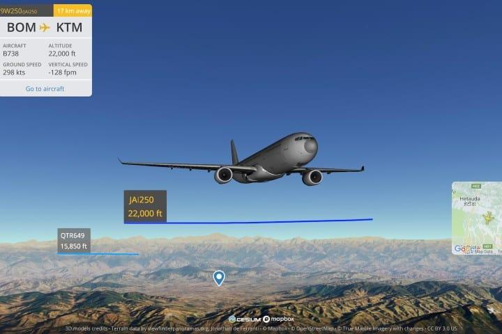 Flightradar24 3D VIEW el rastreador de vuelos. Foto: Archivo.