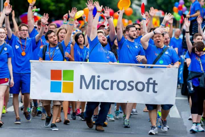 Gay parade. Seattle. Imagen: Microsoft News