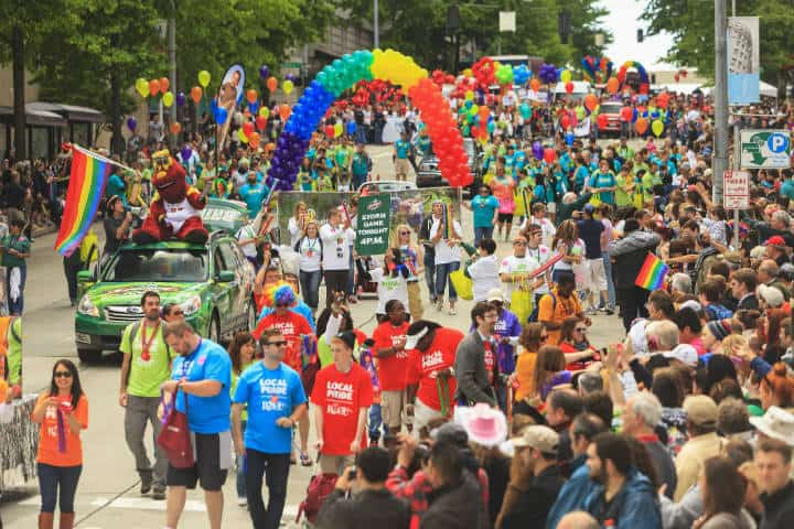 Gay parade. Seattle. Imagen. Savvy 4